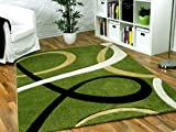 Maui Designer Teppich Grün Loops