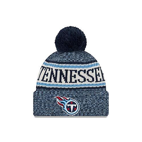 New Era Tennessee Titans Bommelmütze - NFL Sideline Knit - Blau, Blau, Einheitsgröße -