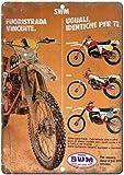Moto SWM Dirt Trail Bike Vintage Étain Signe Métal Mur Occident Affiche Rétro Panneau Décorative Plaque Pour Bar Garage Accueil Mariage Anniversaire Cadeau