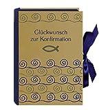 Glückwunsch zur Konfirmation - Buch-Schatzkästchen: Buchbox mit Geschenkbüchlein und Schlüsselanhänger (Fisch) (Schatzkiste) - Eva Wassmann