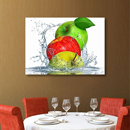 Apples Fresh – Quadri Moderni Cucina con Frutta Mele 70 x 50 cm ...