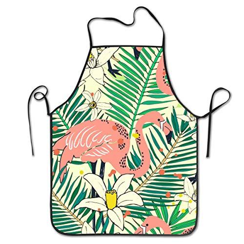 Houity - Delantal Cocina Unisex diseño Flamenco pájaros