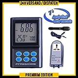 PH & Temperatur Controller Regler Meter (wasserdichte Mini-Elektrode) CO2 PH-Regelgerät Autokalibrierung PH-221 Schwimmbad, Koi, Winzer P14