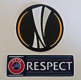 Neue 2016 Uefa Europa League + Respect Trikot Flock aufnäher Football Patch Toppa