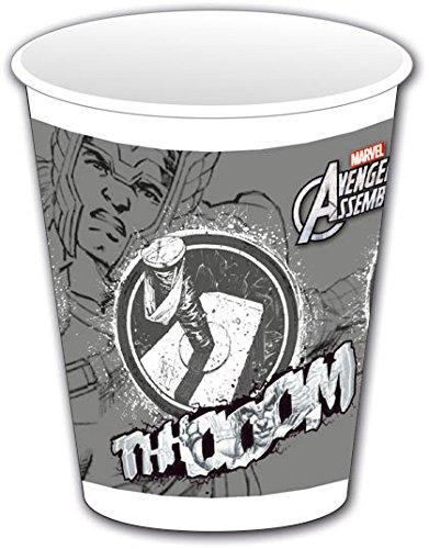 Avengers Assemble Kunststoff Tassen, 8Stück mit Thor (Avengers-kunststoff-cups)