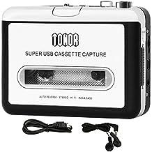 Tonor Convertitore Riproduttore da Cassetta a MP3 on Auricolari e CD Quickstar Portatile