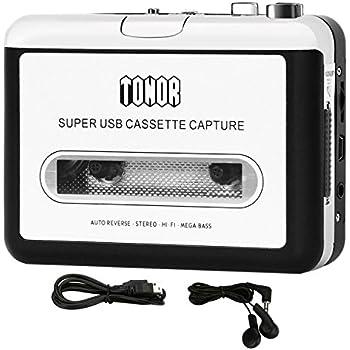 tonor portable de cassette audio mp3 convertisseur avec couteurs cd quickstar. Black Bedroom Furniture Sets. Home Design Ideas