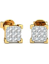 Stylori 18k Gold and Diamond Florence Pave Stud Earrings