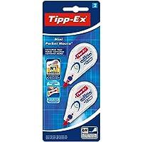 Tipp-Ex Mini Pocket Mouse Korrekturroller – Korrekturband 6 m x 5 mm – Blister à 2 Stück, weiß