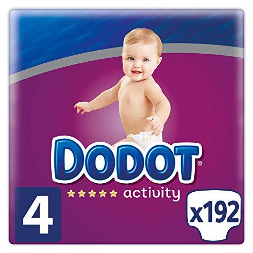 Dodot Activity Pañales Talla 4, 192 Pañales, 9-14 kg