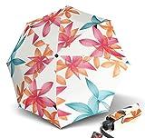 Knirps T.010 Small Manual Regenschirm Taschenschirm Mini Schirm Bahia Margherita / ecru
