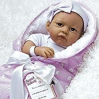 Paradise Galleries Super à Reborn poupée Qui Semble Vivant Réaliste Doux Flex Touch 51cm Hispanic Baby Girl poupée Cadeau The Princess Has Arrived