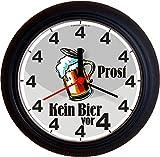 Lucky Clocks BIERUHREN Kein Bier vor Vier 4 Prost Geburtstag lustige Originelle Wanduhren für Bierfans für Jeden Anlass Neutral