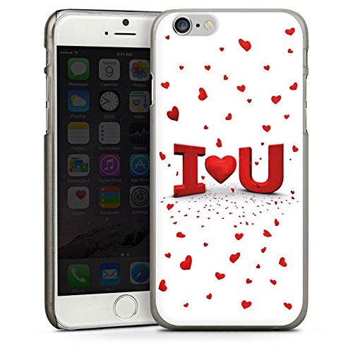 Apple iPhone 5 Housse étui coque protection Amour Amour C½ur CasDur anthracite clair