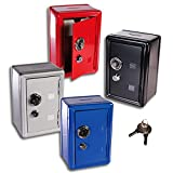 (949)(Rot) XL Spar-Tresor Safe Minisafe Spardose Sparbüchse Spartresor Schlüssel Zahlenschloss