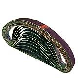 10 Stück HKB ® Gewebe-Schleifbänder, 13 x 457mm Körnung je 2 x 40, 60, 80, 120, 240 für Black & Decker Powerfeile, Hochwertige Profi-Qualität für verschiedene Oberflächen, feiner und riefenfreier Schliff, universell einsetzbar, Artikel-Nr. 10847