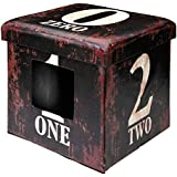 D&D 434-426050 Katzenbox Ottoman One, dunkle braun, 38 x 38 x 38 cm