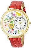 Whimsical Watches WHIMS-G0640003 - Reloj analógico de Cuarzo para Mujer con Correa de Piel, Color Rojo