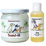 Lieblingshund Feeprotect Coconut oil und Feeprotect dog Kombipack für Hunde