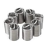 Akozon Inserciones roscadas, Insertos roscados helicoidales de rosca de acero inoxidable para la reparación de roscas SS304 M8 (M8*1.25 * 2.5 D, 50pcs)