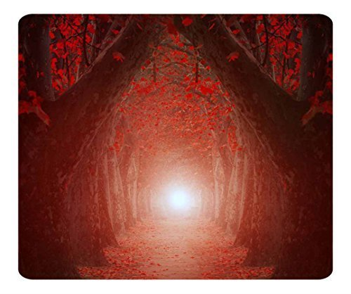 Decorative Mouse Pad Art Print Landscape and Plants The Light At The End Of The Tree Tunnel (Plant Tunnel)