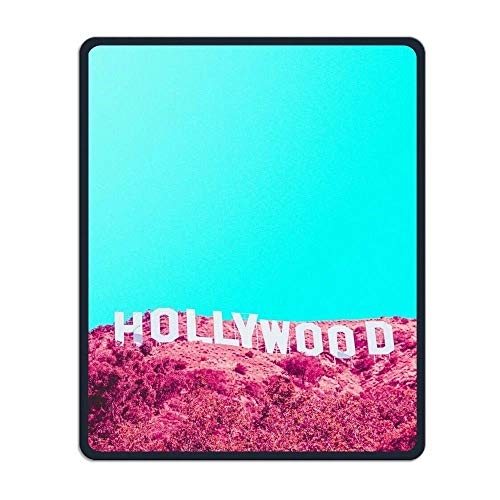 ASKSSD Non-Slip Mouse Pad Rectangle Rubber Mousepad Love Hollywood Print Gaming Mouse Pad