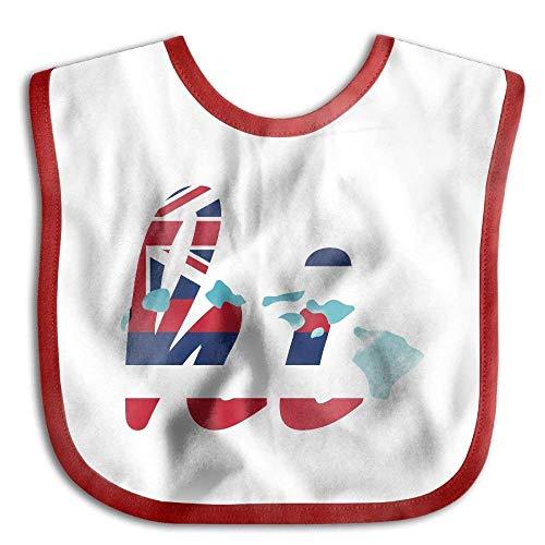 Hi Hawaii Map Flag Infant Toddler Bibs Adjustable Baby Bib Funny Baby Shower