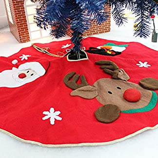 Cieelita 78-90cm de Nieve Felpa árbol de Navidad de la Falda de la Base de la Estera del Piso de la Cubierta Feliz Navidad Adorno del árbol de Santa Claus Ciervos sintió casa del árbol de Navidad