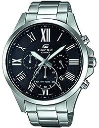 Casio Edifice – Reloj Hombre Analógico con Correa de Acero Inoxidable – EFV-500D-1AVUEF