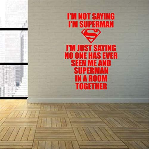 Wandaufkleber,Superheld Ich Sage Nicht, Ich Bin Superman Wall Art Vinyl Aufkleber Spielzimmer Grafik Transfer Art Decor Boy Room Decals 40 X 58 (Naruto Bin Ich)