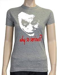 Coole-Fun-T-Shirts Women's T-shirt Why So Serious ? Joker T-Shirt