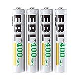 EBL 4Stück AAAA E96LR61400mAh Ni-MH wiederaufladbare Batterien für Active Stylus, Bluetooth Kopfhörer, Spielzeug, Fernbedienung