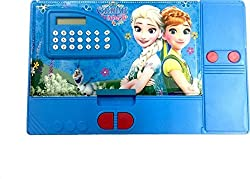 Jumbo Pencil Box with Calculator (Free USB LED Light) (Frozen)