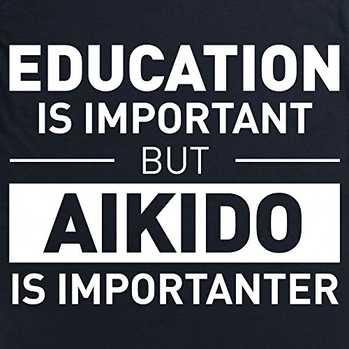 Education Aikido Langarmshirt Funny Novelty Gift, Herren Schwarz