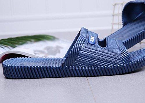 W&XY Pantoufles salle de bain mâle intérieur anti-dérapant bain doux cool un mot sandales 41
