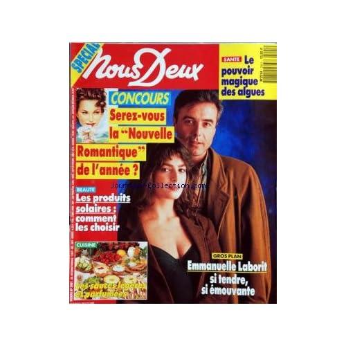 NOUS DEUX [No 2401] du 06/07/1993 - LE POUVOIR MAGIQUE DES ALGUES -EMMANUELLE LABORIT -LES PRODUITS SOLAIRES -LES SAUCES LEGERES ET PARFUMEES