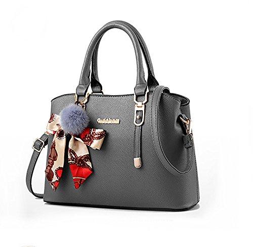 Donna Personalità Big La Donna Versione Bag Moda Vestiti Nuova Nero Coreana Della colore Grigio Borsa Borsa Spalla Borsa w4OqXCv