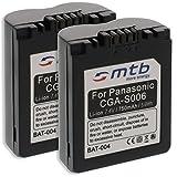 2x Batteries CGA/CGR-S006, BMA7 pour Panasonic Lumix DMC-FZ7, FZ8, FZ18, FZ28... voir liste!