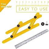 Pilaaidou Angleizer modello Tool, 30,5cm, in acciaio INOX, righello, angolo di misura righello generale tutti gli angoli e forme–Angleizer strumento per per costruttori o ingegnere