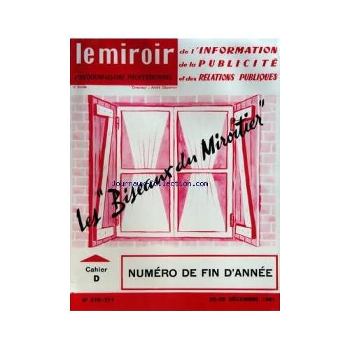 MIROIR DE L'INFORMATION DE LA PUBLICITE ET DES RELATIONS PUBLIQUES (LE) du 22/12/1961