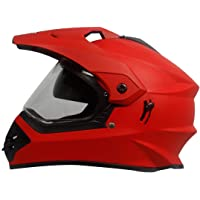Steelbird Off Road Motocross Helmet with Double Visor (600 MM Large, Matt S.Red Aerodynamic helmet for men)