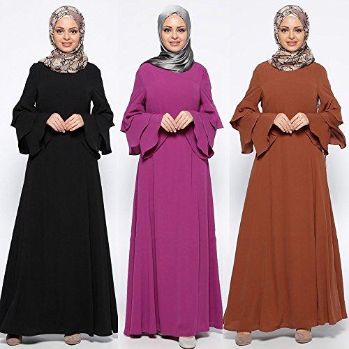 Mitlfuny Muslimische Frauen Islamische Reine Farbe Plus GrößE Naher Osten Langes Kleid...