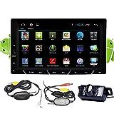 Telecamera posteriore senza fili impermeabile + Pure Android 4.2 Car DVD Player 7 pollici 2 din HD multi-touch capacitivo stereo di GPS dell'automobile dello schermo di WiFi di navigazione auto Radio FM AM Audio Player