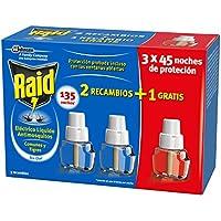 Raid - Recambio para Difusor Eléctrico Anti Mosquitos Comunes y Tigre 135 Noches, Blanco