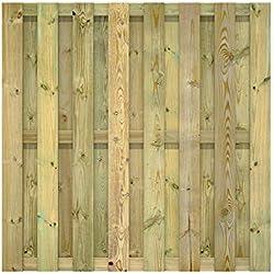 FATMOOSE Sichtschutzzaun Gartenzaun SolidFence Premium Zaun Holzzaun 180x180 cm