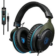 Sades R3 Gaming Headsets / Stereo Kopfhörer, 3.5mm Wired Over-Ear-Kopfhörer mit Mikrofon für PC/ PS4/ XBox One/ Laptop/ Tablet