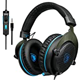 [2017 SADES R3 Nueva Xbox one PS4 Gaming Headset] Gaming auriculares con micrófono sonido envolvente estéreo Pro sonido Deep Bass Over-the-Ear Control de volume
