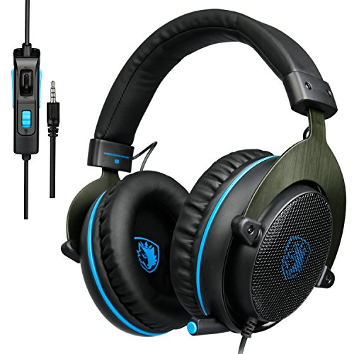 [2017 SADES R3 Nueva Xbox one PS4 Gaming Headset] Gaming auriculares con micrófono sonido envolvente estéreo Pro sonido Deep Bass Over-the-Ear Control