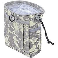 Shuzhen,Airsoft Utility Recycle Bag Paquete de colección Resistente al Agua para Herramientas al Aire Libre(Color:Camuflaje ACU)