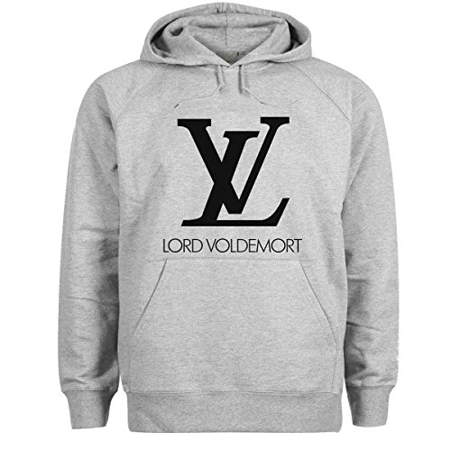 Harry Potter LV Lord Voldemort Gris Sudadera con capucha unisex 4X Large
